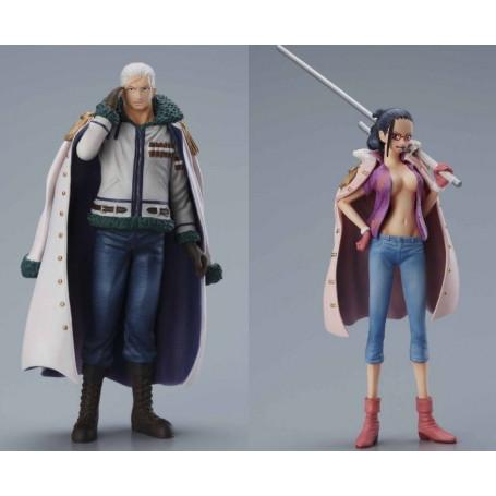 Bandai Super One Piece Styling Smoker et Tashigi Set