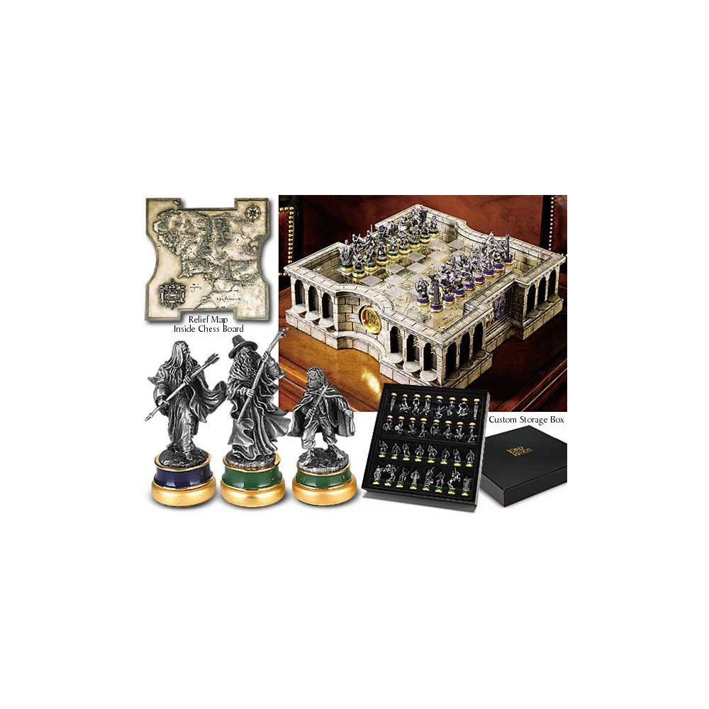 noble collection lotr jeu d checs figurine collector. Black Bedroom Furniture Sets. Home Design Ideas
