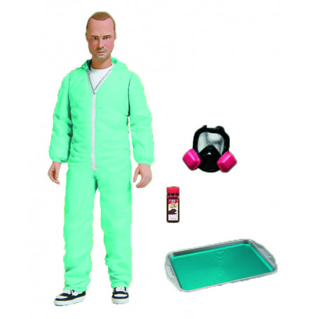 Mezco Breaking Bad figurine Jesse Pinkman Blue Hazmat Suit PX