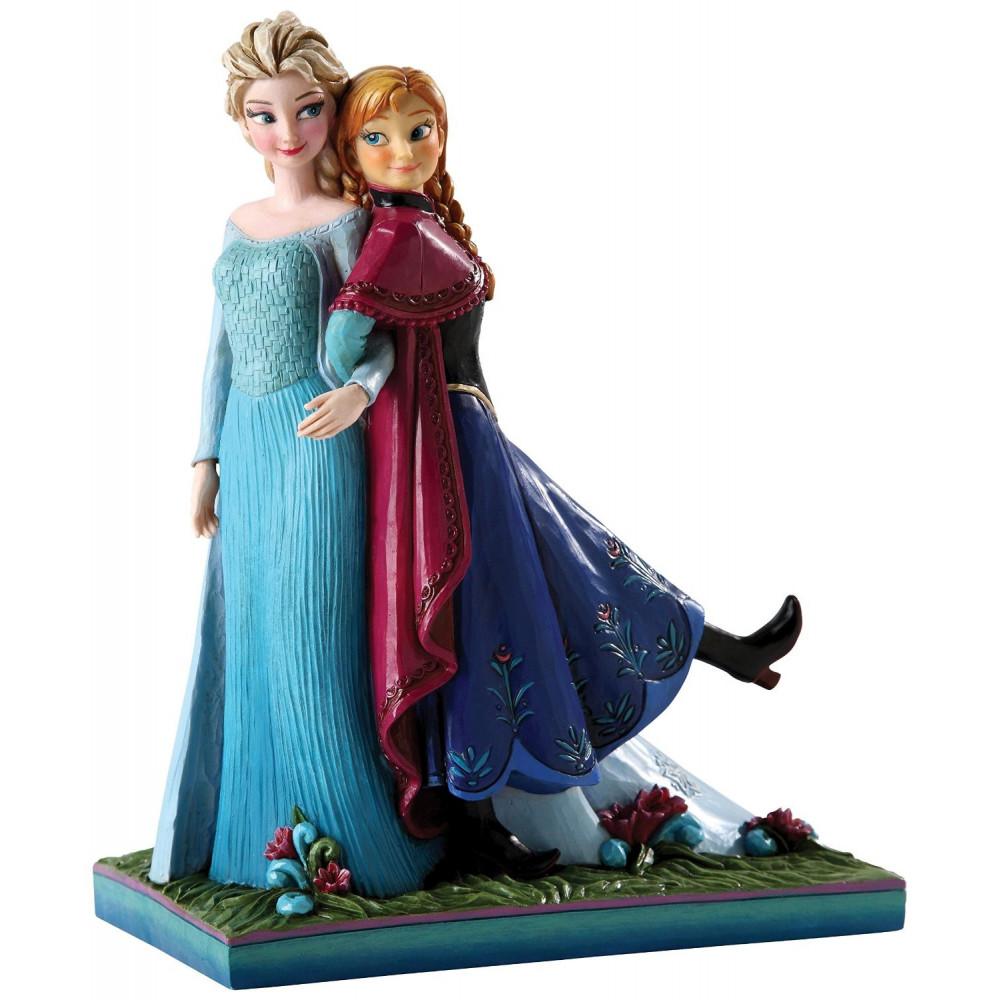 enesco statue la reine des neiges elsa et anna - La Reine Des Neiges Elsa